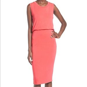 Leith sleeveless Midi dress in coral size small
